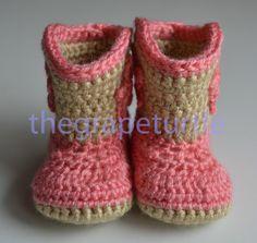 Crochet bebé botas de Cowboy hecho por encargo por TheGrapeTurtle