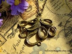 octopus+necklacevintage+brass+octopus+pendant+by+InfinityImagine,+$0.20