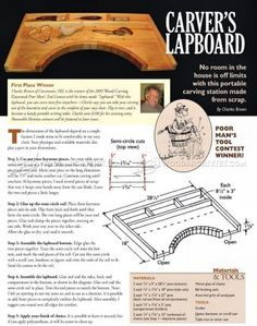 #1297 Portable Carving Station Plan - Wood Carving Patterns and Techniques