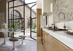 Magnífica casa de campo de paredes de piedra | #piedra #design #decoracion