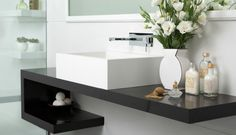 Bathroom countertops for decorating and modernizing - Shower Remodeling