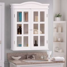 Shop for Wall-Mount Bathroom Storage Cabinet Medicine Organizer Double Doors Shelved New. Get free delivery On EVERYTHING* Overstock - Your Online Furniture Outlet Store! Get in rewards with Club O! Bathroom Medicine Cabinet, Storage Design, Bathroom Furniture, Storage Cabinet, Small Bathroom, Wall Mounted Bathroom Storage, Simple Bathroom, White Bathroom Cabinets, Adjustable Shelving