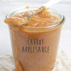 Carrot Applesauce/The mother of all baby food recipe websites!!!!! I can't wait to try some of these gourmet baby puree recipes. I want to taste some! (Blueberry + Chickpea + Rosemary Chunky Puree)