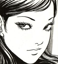 """富江"""" By Itō Junji - Tomie (富江?) is a Japanese horror manga series written and illustrated by Junji Ito Kunst Inspo, Art Inspo, Arte Horror, Horror Art, Aesthetic Anime, Aesthetic Art, Purple Aesthetic, Manga Gore, Manga Anime"""