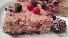 Gyümölcsös túrós zabfelfújt Krispie Treats, Rice Krispies, Oatmeal, Sweets, Healthy Recipes, Cookies, Fitness Foods, Breakfast, Cake