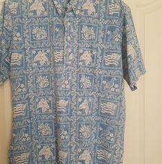 8d886e81 Reyn Spooner Men's Vintage half button down Aloha Friday Shirt Size is  Large This shirt is