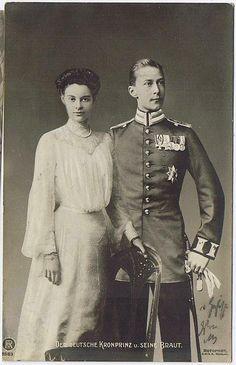 Cecile of Mecklenburg-Schwerin and husband Crown Prince Wilhelm of Germany (Kaiser Wilhelm II's eldest son)