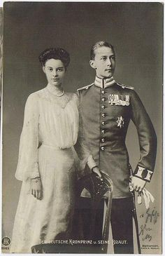 Cecile of Mecklenburg-Schwerin and husband Crown Prince Wilhelm of Germany (Kaiser Wilhelm II's eldest son)
