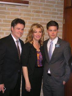 Beckstrand Beat: Donny Osmond Visits Holland.  Wife & son, Chris.