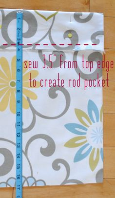 Easy-to-follow tutorial on how to make a Box Pleat Valance with Greek Key Design {DIYl}
