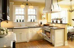 Landelijk Geel Keuken : This is the perfect look! interior pinterest appartement