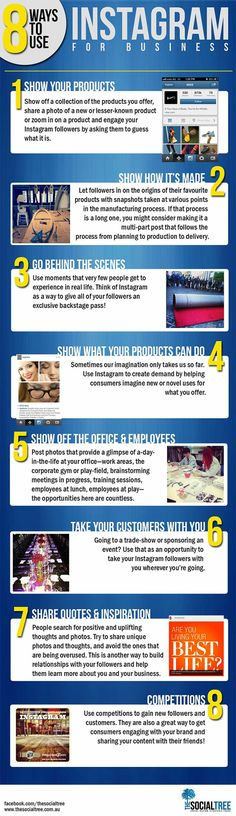 8 Ways to Use Instagram to Market Your Business #smm #instagram #infographic