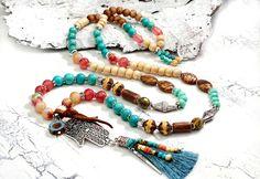 Charm- & Bettelketten - edle Bettelkette ✿ Boho Hippie ✿ tolle Farben - ein Designerstück von Lunas-SchmuckART bei DaWanda