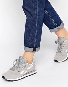 Reebok CL Suede Grey Trainers - I love these!!