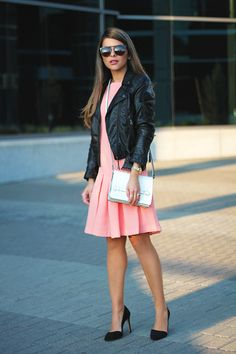 Dress French Connection, Faux leather jacket H&M, Shoes Banana Republic, Bag Zara, Sunglasses Wonderland  www.thegirlfrompanama.com @pamhetlinger (4)