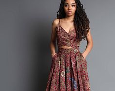 Your place to buy and sell all things handmade African Inspired Fashion, Latest African Fashion Dresses, African Print Dresses, African Print Fashion, African Dress, African Wear, African Style, Ankara Dress, Dress Skirt