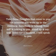 Talking to yourself is not a bad thing. #ElationMentor