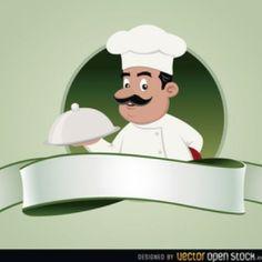 Escuela de chef emblema vector