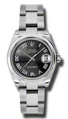 Rolex 178240 bksbro Datejust Ladies Steel - швейцарские женские часы Ролекс - наручные, стальные, черные
