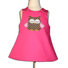 Owl dress from stitcheroos.com