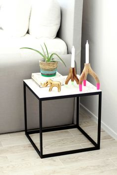West Elm Inspired DIY Marble Table