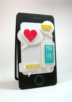Smartphone Card by Allison Okamitsu #stampinup @scrapbookandcardstodaymag.typepad.com