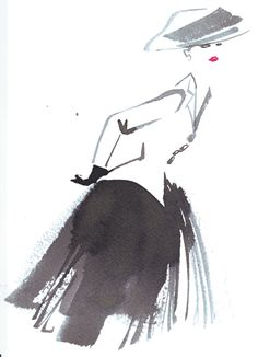 fashion history was made today! on February 12th 1947, Christian Dior debuted his New Look silhouette. still gorgeous, after all these years!    (illustration by Bil Donovan, the Dior in-house artist who painted my profile pic! courtesy of Dior)