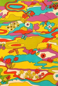 wallpaper Fabric detail from the American Textile History Museums quot; Crazy about those retro patterns. and wallpaper isnt it the best Psychedelic Art, Psychedelic Pattern, 60s Art, Retro Art, Arte Hippy, Trippy Wallpaper, Hippie Wallpaper, Motif Vintage, Vintage Art