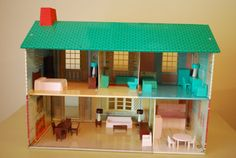 Metal Two Story Dollhouse by Wolverine by AGlimpseFromthePast