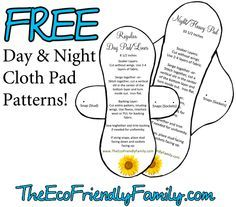 Free cloth menstrual pad pattern (aka mama cloth) for your period. These pads are soft, absorbent, easy to make, and best of all - the pattern is FREE!