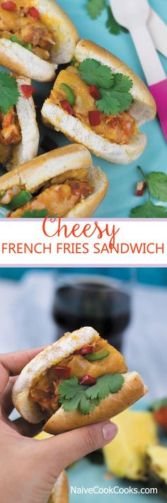 Cheesy French Fries Sandwich | NaiveCookCooks.com