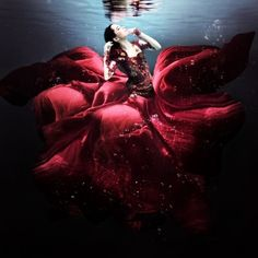Global Gallery 'The Lady in Red' by Martha Suherman Framed Graphic Art Underwater Art, Underwater Photography, Artistic Photography, Art Photography, Underwater Photoshoot, Fashion Photography, Underwater Model, Underwater Images, Photoshop