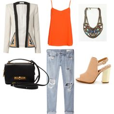 """""""Boyfriend jeans and heels"""" by aliciapetrice on Polyvore"""