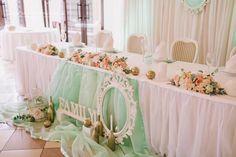 Оформление главного свадебного стола