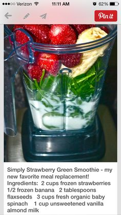 Simply Strawberry Green Smoothie