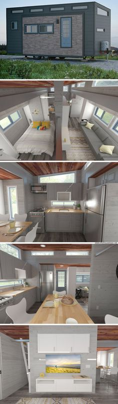 The Aurora: a tiny house that expands at the push of a button to bring the home's size up to 337 sq ft