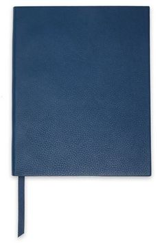 Shop Smythson Pebbled-leather Notebook In Blue from stores. Smythson, How To Make Ribbon, Leather Notebook, Made In Uk, World Of Fashion, Pebbled Leather, Grosgrain, Luxury Branding, Style
