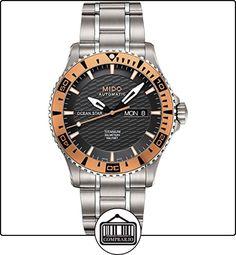 Mido Ocean Star M0114305406102 - Reloj para hombres, correa de titanio color plateado  ✿ Relojes para hombre - (Lujo) ✿