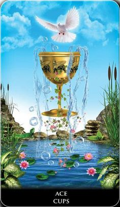 Featured Card of the Day – Ace of Cups – New Babylonian Tarot by Roxana Paul « Tarot by Cecelia