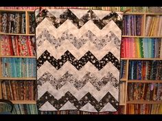 EPISODE 43 - Fast and Easy and Half Square Triangle Chevron Quilt Tutorial - YouTube