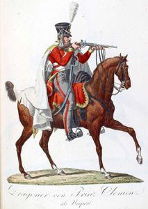 Dragoon, Prinz Clemens Regiment - The Saxon Army in 1810: the Uniform Plates of Alexander Sauerweid