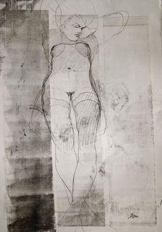 art-Walk — Michael Lentz Nude no.2721 monotype