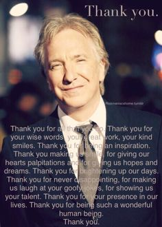 Happy birthday Alan Rickman!!