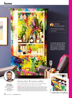 Armoire paint job commissioned by Malcolm Patterson (possibly one of my coolest clients) for a Chatelaine Magazine photo shoot, published in the March 2012 issue. I enjoy how the graphic work tends…