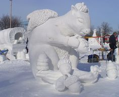 snow sculpture!