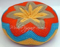 Декоративная подушка крючком узором зигзаг  - Crochet Modnoe Vyazanie