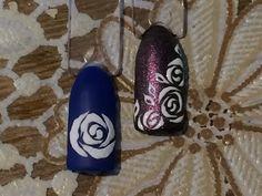 Трафаретная роза. Рисуем розу. Дизайн ногтей лаками. - YouTube