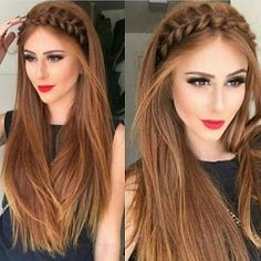 The Latest Idea of The Evening Hairstyle 2018 Fashionable chic hairstyles have the ability to create a main accent in an elegant image and allow you to make the images for the evening amazing and so magical. And do not hesitate, trendy and f. Side Braid Hairstyles, Chic Hairstyles, Bride Hairstyles, Straight Hairstyles, Evening Hairstyles, Bridesmaid Hair, Hair Looks, Bridal Hair, Hair Inspiration