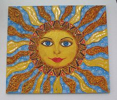 Art - Sun, Moon, Stars, Sun face painting
