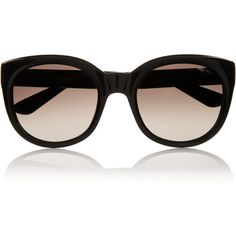 Saint Laurent D-frame acetate sunglasses (210 CAD) ❤ liked on Polyvore featuring accessories, eyewear, sunglasses, óculos, black, uv protection sunglasses, black gradient sunglasses, black glasses, yves saint laurent sunglasses and acetate glasses
